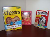 """Ask each child to bring in the box from their favorite cereal.Cut off the front of the box.Write """"Child's nameeatsname of cereal."""" see more..."""