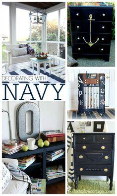 Decorating with Navy   Nautical Neutral Coastal Home Decor Makeover Ideas
