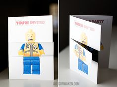 Lego Party invitations - with free download