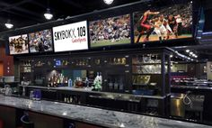SKYBOKX 109 in Natick, MA: Many TVs and GREAT FOOD! Find more places to watch the World Cup in the USA: http://pin.it/AeGWA1a