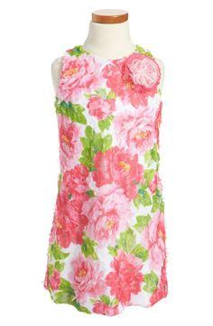 Too cute! Floral A-line dress.