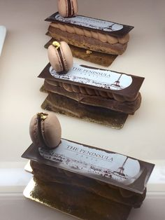 A decadent chocolate éclair in tribute to the opening of The Peninsula Paris is available at Pierrot Gourmet.