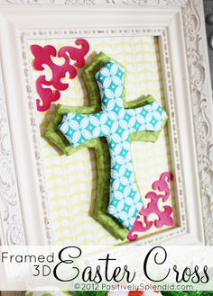 This is a project my Mom would love :) Me too!  this cross says for Easter but I'm envisioning something more neutral for all the time on my wall.  love it!