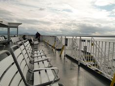 Standing on Deck 6 of the Prince Rupert Ferry looking for whales. road trips, whale, deck