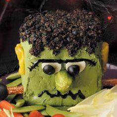Halloween -- cheese ball recipe (make into an eyeball?)     Cheesenstein Recipe