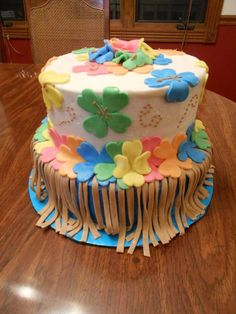Hawaiian Luau Theme Cake