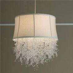 drip crystal, crystal chandeliers, crystal shade, breakfast nooks, shade chandeli, color, light fixtures, lamp, bedroom