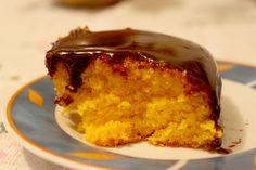 bolo de cenoura com cobertura de chocolate, yummy  (Brazilian Carrot Cake! My fav cake ever!)