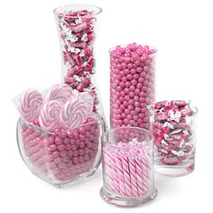 Pink - Baby Shower Candy Buffet Kit - Baby Shower Candy | BigDotOfHappiness.com