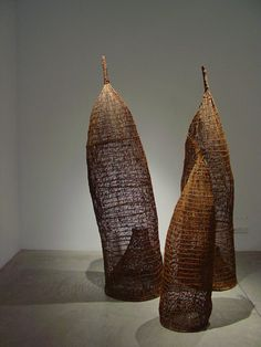 Fish Traps ~ From the Exhibition at Grant Pirrie in 2005   Maningrida Arts and Culture ~ Fiberworks   Maningrida region, Northern Territory, Australia