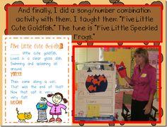 song and math worksheet idea