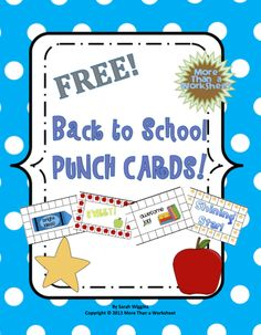 Owl punch cards for behavior management and goal achievement