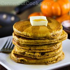 Perfect Pumpkin Pancakes are part of an essential fall breakfast! They've got hints of pumpkin and cinnamon, and when drizzled with warm maple syrup??? You can't go wrong!