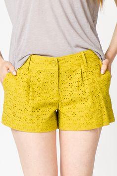 Citrine Eyelet Shorts