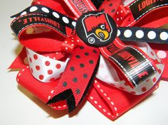 University of Louisville Hair Bow