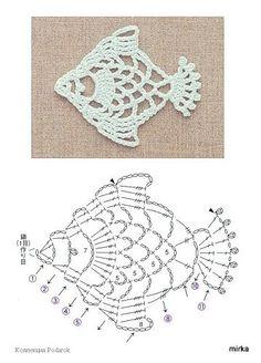 crochet fish pattern illustration