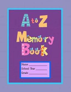 FREE A to Z Memory Book K-2, Power Point + Printable Booklet, free on TpT