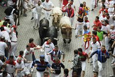 running of the bulls in pamplona...another event i'll someday attend from high above.