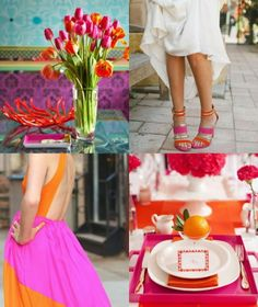 pink and orange -- so fun for spring! #ShopGeniusApp .com - for the best price on EVERYTHING
