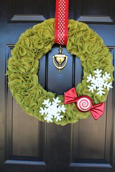 decor, christma wreath, crafti cajun, burlap wreaths, diy christmas wreaths, burlap christmas, green, red christmas, blog