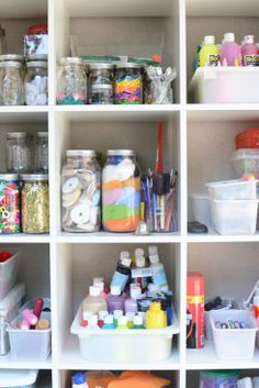 How to organize art supplies with kids