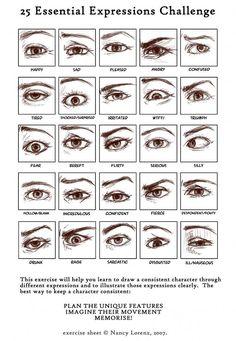Drawing eye challenge