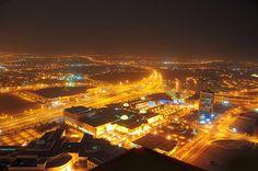 Seef Area at Night - Bahrain