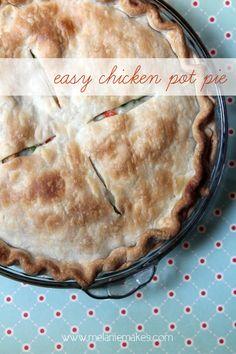 Easy Chicken Pot Pie | @Melanie Bauer Bauer Bauer at Melanie Makes