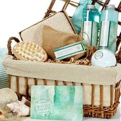Stuck inside due to rain or snow? Treat yourself to a spa gift basket filled with luxurious products and dream of sunny days to come.>>Enter to win a $100 gift card in the Cabin Fever Sweepstakes. No Purchase Necessary. See Rules for details. #giftscabinfever                                        Waves of the Pacific Bath Gift Basket gift baskets, wedding anniversary gifts, mothers day, spa basket, gift ideas, wave, gift cards, spa gifts, cabin fever