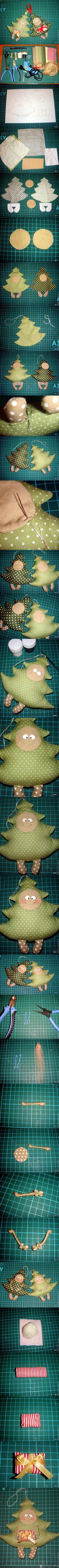 DIY Funny Fabric Christmas Tree DIY Funny Fabric Christmas Tree