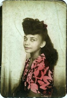 1940s African American girl