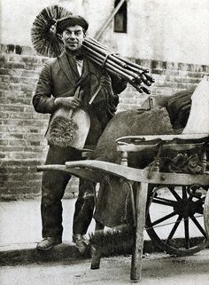 London in the 1920's-chimney sweep.