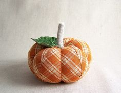Orange Plaid Pumpkin