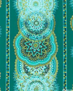 Palazzo - Doily Medallions - Teal. From eQuilter.com