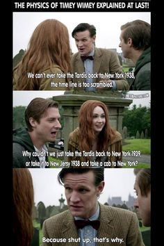 I don't watch Doctor Who but this is great.
