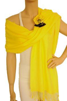 Yellow Shawl Brooch Pin Pashmina Wrap Wedding by StylishShirts, $15.00   brooch pin, yellow ve shawl hakkında daha fazlasını görün.