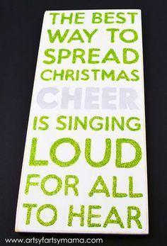 Christmas Cheer Sign at artsyfartsymama.com #christmas #MSHoliday