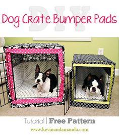 DIY Dog Crate Bumper Pads