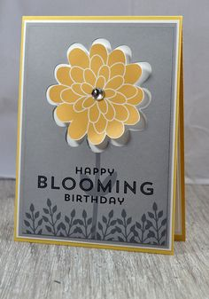 This week's challenge at Just Add Ink - Just Add a Colour Combo #225: My card today has no stamping! I made the card using Stampin' Up! Digital Flower Patch Stamp Brush Set and my e-cutter softwar...