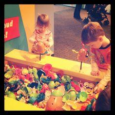 Mr. Potato Head classroom creation station.. what a fun idea for sensory tub or fine motor play area!