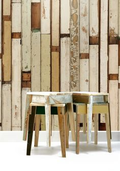Wow...This is Scrap wood wall paper