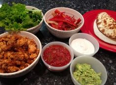 Build your own spicy chicken tacos with coconut flour tortillas, recipe by Livin Paleo