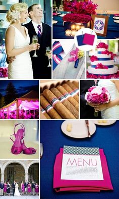 A vibrant choice in wedding colors #wedding