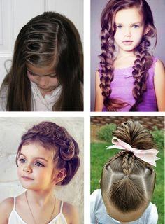 coiffure enfant tresse ruban tortillon chignon #coiffure #enfant #chignon