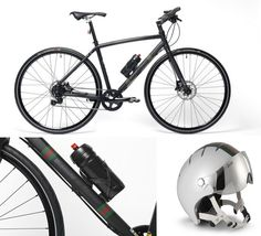 Bianchi for Gucci carbon fiber cycle with helmet