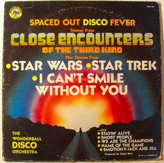 Spaced Out Disco Fever vintage record cover