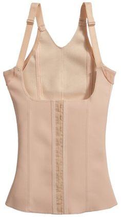 Squeem Magical Lingerie Shapewear, Miracle Vest, Firm Compression, Cotton & Rubber, Vest, Beige, Medium  #shapewear