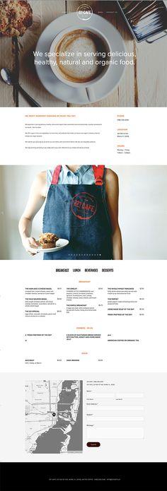 221 Cafe by Laura Pol, via Behance