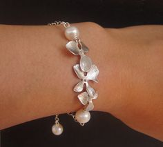 Orchid Pearl Bracelet