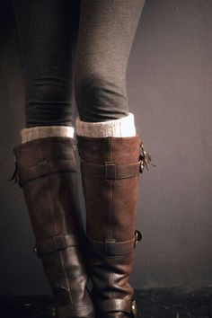 Riding boots.